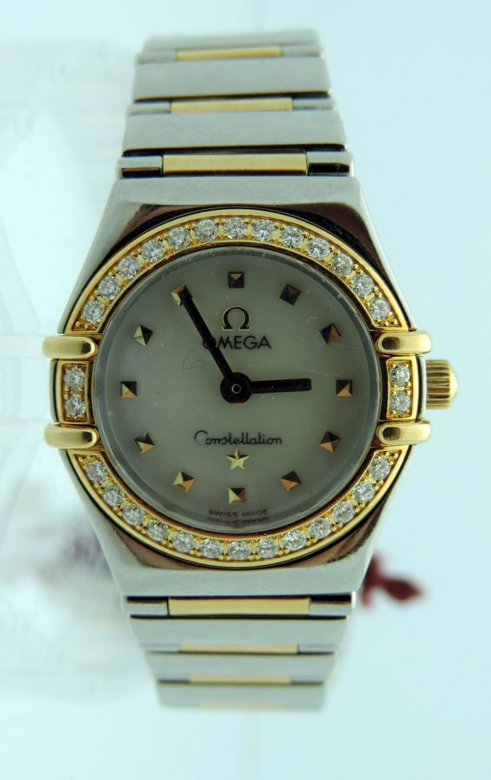 Ladies Omega Constellation two tone 18kt yellow  gold
