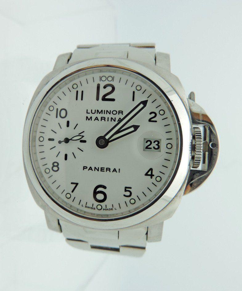 Panerai Luminor Marina Automatic 40mm, SS, white dial,
