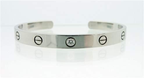 Cartier 18K and Diamonds Love Bracelet.  Bracelet with