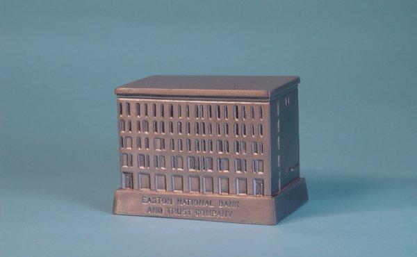 "17: ""Easton National Bank & Trust"" White Metal bank"