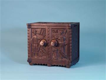 """151: """"Army - Navy"""" Cast Iron safe bank"""