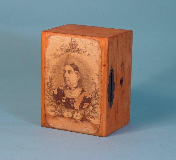 242: Queen Victoria 1837-1887 Wooden bank