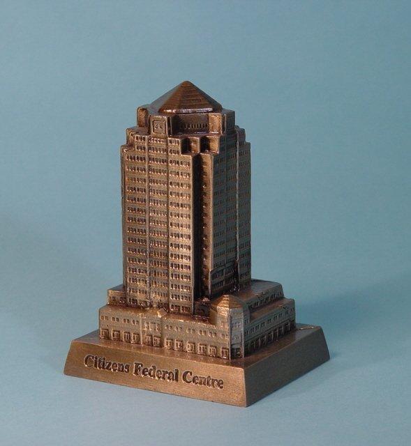 "441: ""Citizen's Federal Centre"" White Metal bank"