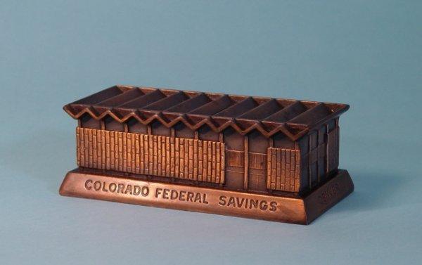 """451: """"Colorado Federal""""  White Metal building bank"""