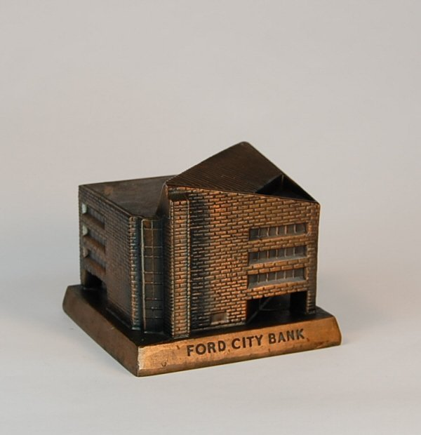 """22: """"Ford City Bank"""" Banthrico building bank"""