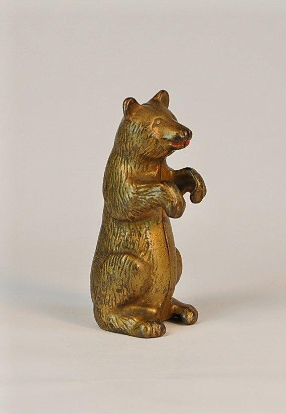 539: Begging Bear Cast Iron bank