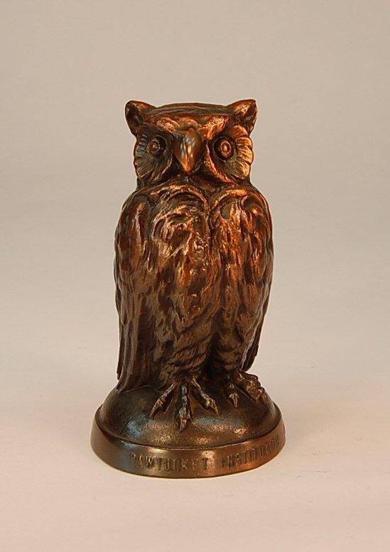 """10: Rehberger """"Pawtucket Institution"""" Owl bank"""