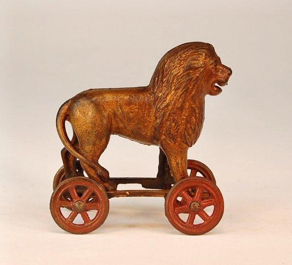 544: Lion on Wheels bank