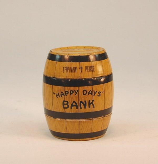 "612: ""Epiphany Pence"" Barrel bank"