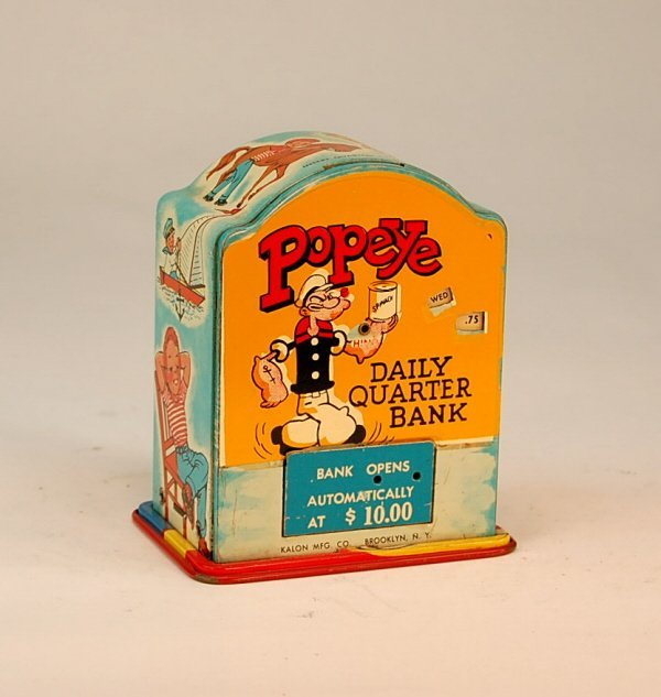 "623: ""Popeye Daily Quarter Bank"" register bank"
