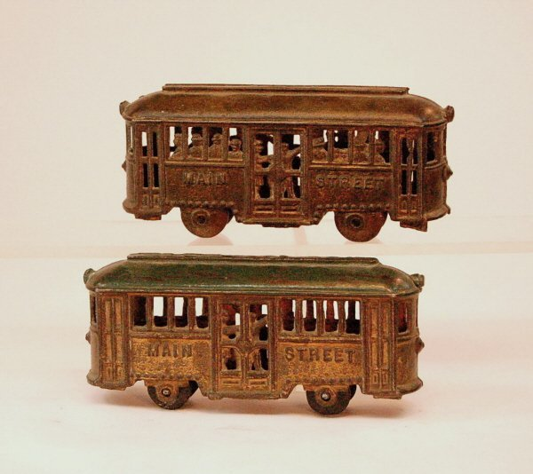 "24: Lot of 2 ""Main Street"" Trolley banks"