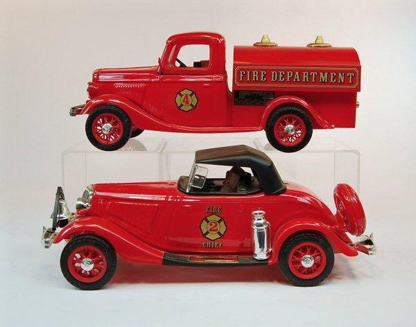 402: Lot of Five Jim Beam Firehouse Automotive Decanter