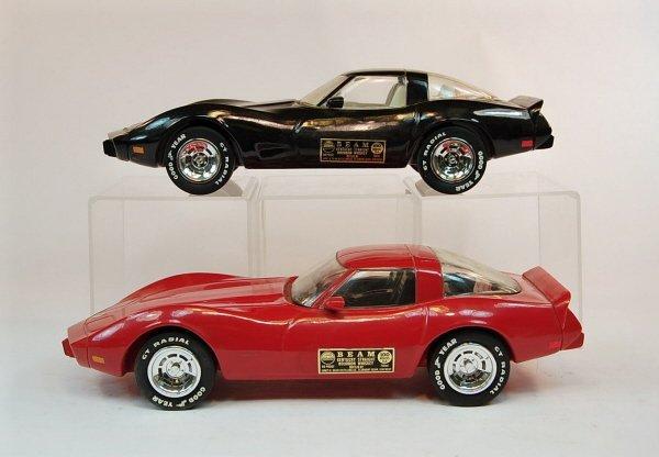 404: Lot of Five Jim Beam Corvette Automotive Decanters