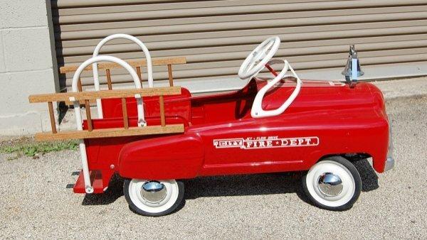"408: ""City Fire Department"" restored pedal car"