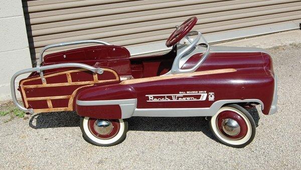 "409: ""Ranch Wagon"" restored pedal car"