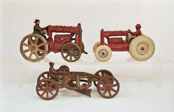 413: Lot: Road Grader & Two Farm Tractors