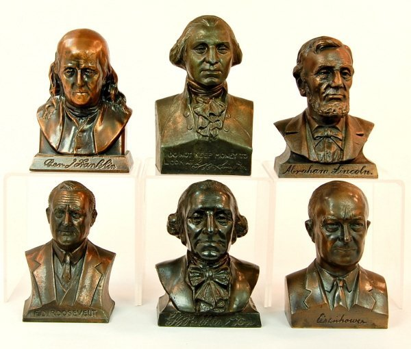 9: Lot of 6 bust banks