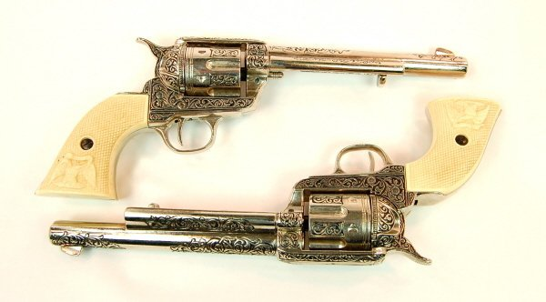 406: Pair of large cap pistols