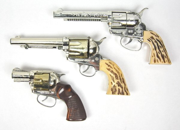 18: Lot of 3 Cap Guns
