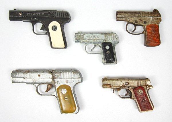 19: Lot of 5 Cap Guns