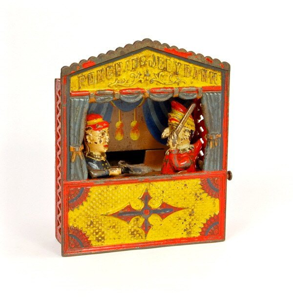 "158: ""Punch and Judy"" mechanical bank"