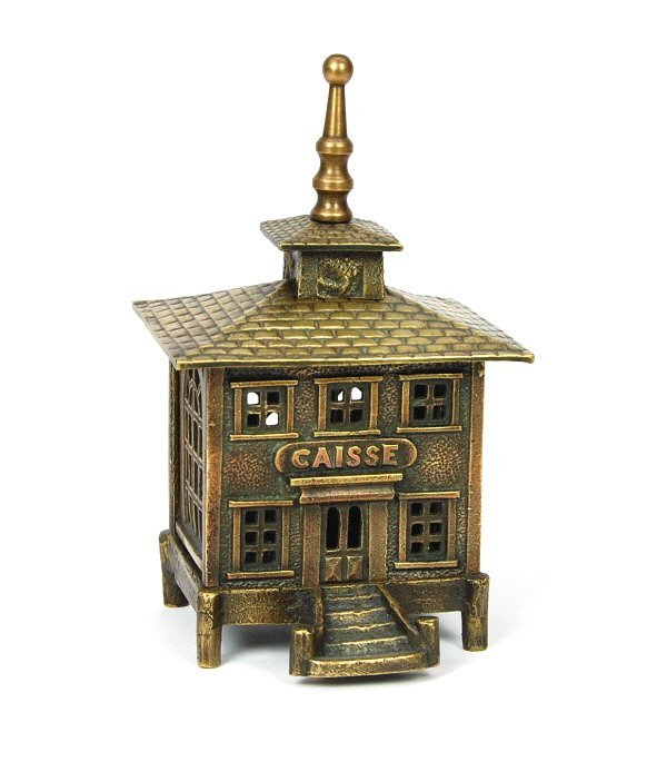 "402: ""Caisse"" with Ball Finial building bank"