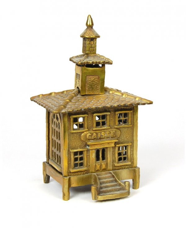 "403: ""Caisse"" with Conical Finial building bank"