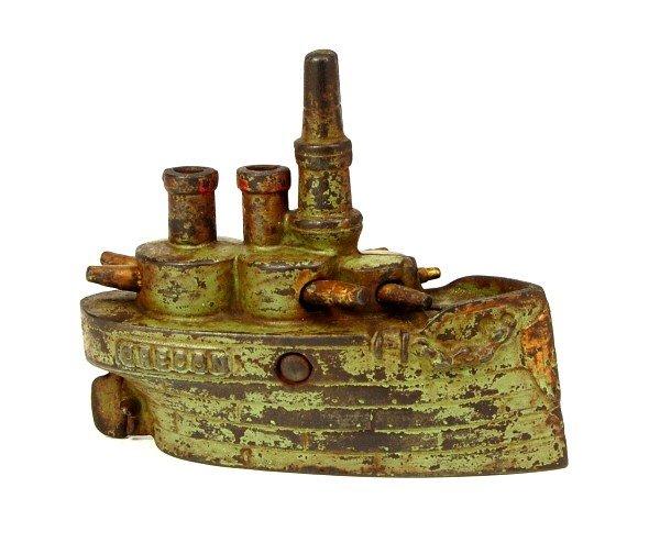 "19: Large ""Oregon"" Battleship bank."
