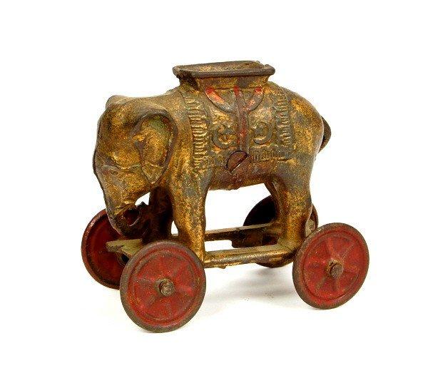 24: Elephant on Wheels bank.