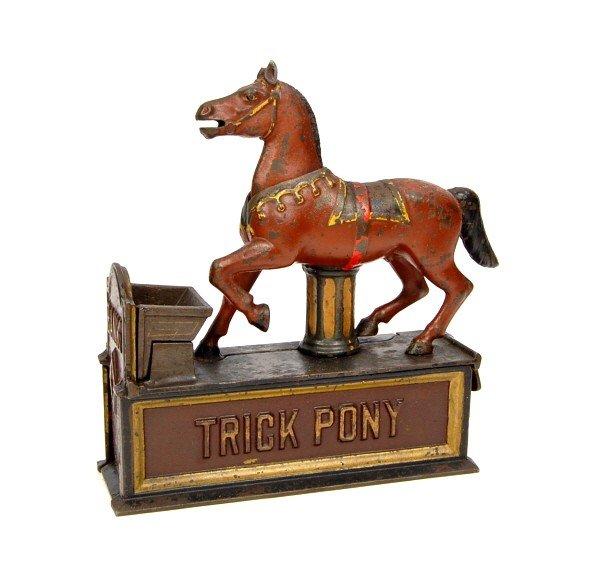 "90: ""Trick Pony"" mechanical bank."