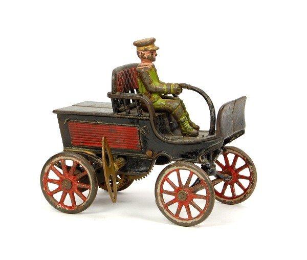 124: Keywind Cast Iron Automotive toy.