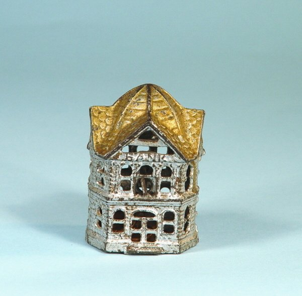 400: Six-Sided Building Cast Iron Bank