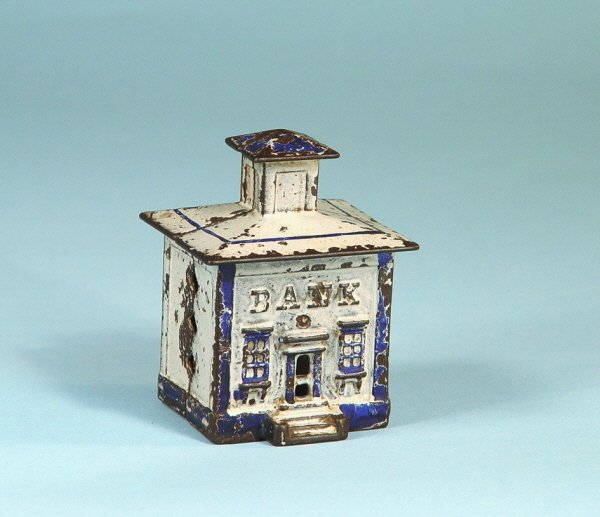 401: Small Cupola Building Cast Iron Bank
