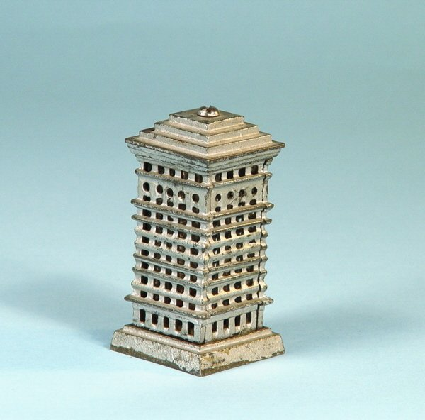 402: Small Tiered-Top Highrise Cast Iron Bank