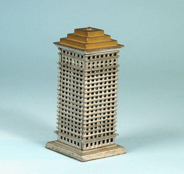 405: Large Top-Tiered Highrise Cast Iron Bank