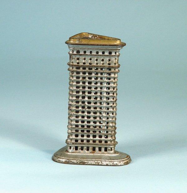 410: Small Flatiron Cast Iron Building Bank