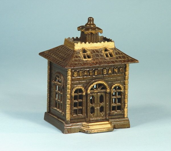 """412: """"State Bank"""" Cast Iron Building Bank"""