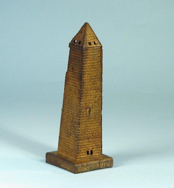 415: Large Washington Monument Cast Iron Bank