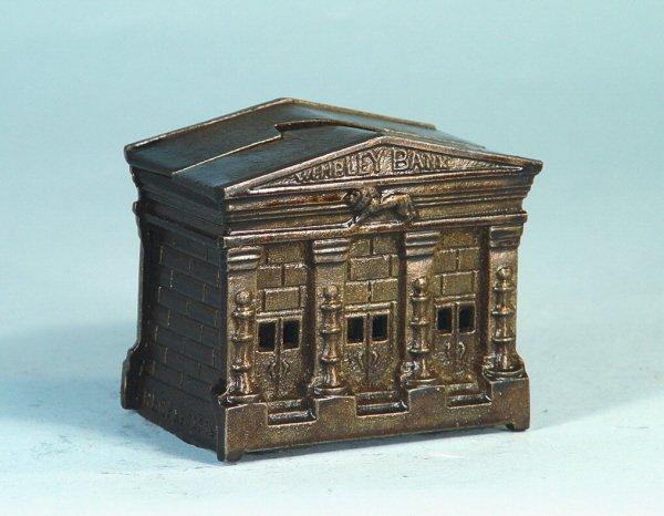 "758: ""Wembley"" Cast iron Building Bank"