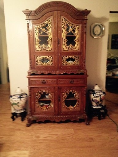 Antique Oriental China cabinet