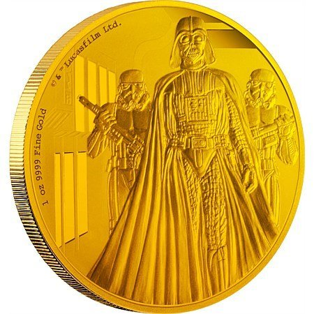 2,5 OZ Gold Coins: Darth Vader, Scrooge McDuck in proof - 2