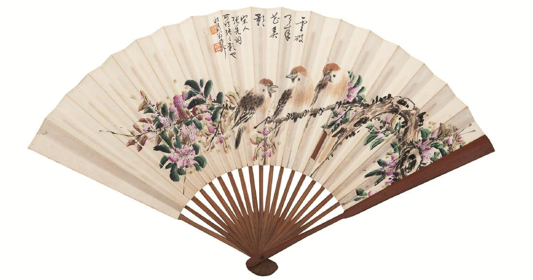 XIE ZHI LIU FLOWER & BIRD FAN