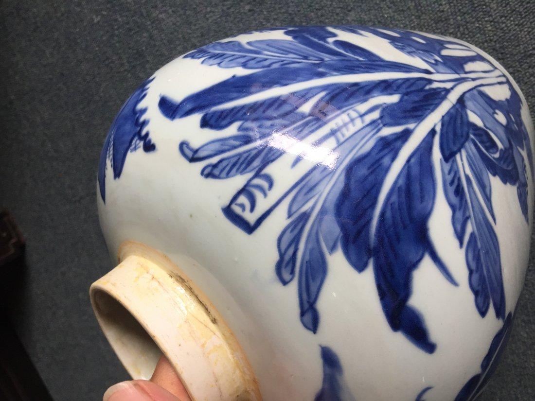 MING CHONG ZHEN BLUE & WHITE ANIMAL JAR - 3
