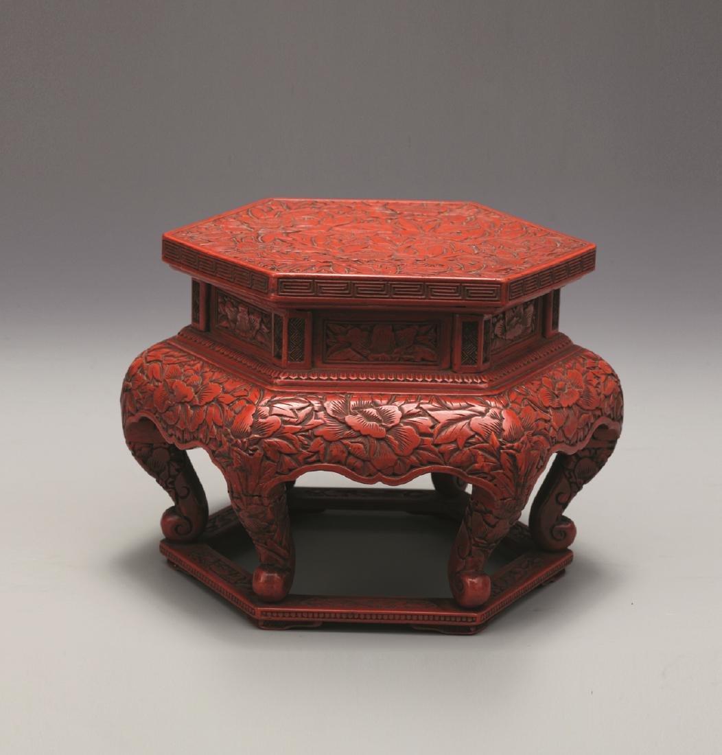 QING QIANLONG LACQUERWARE TABLE