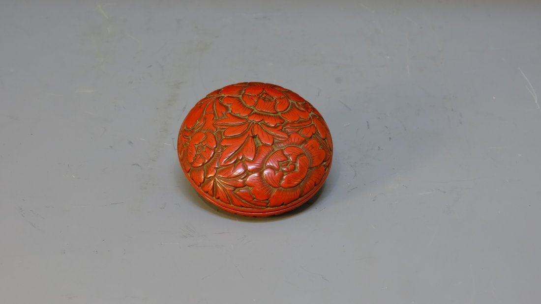 QING DYNASTY LACQUERWARE FLOWER BOX - 4