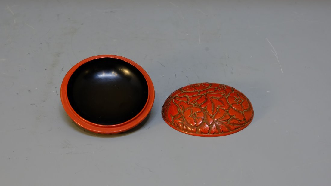 QING DYNASTY LACQUERWARE FLOWER BOX - 5