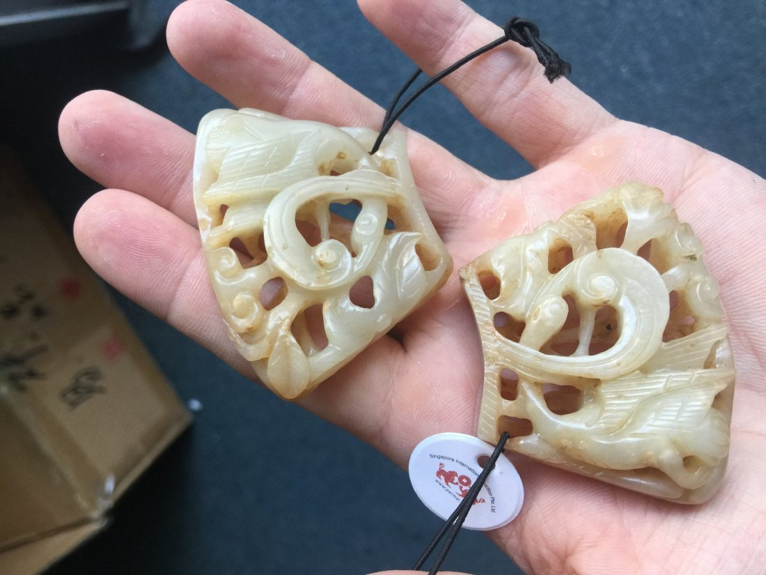 A GROUP OF LIAO JIN DYNASTY WHITE JADE PENDANT - 2