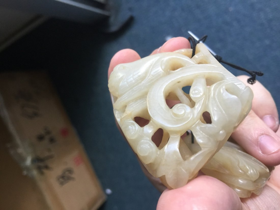 A GROUP OF LIAO JIN DYNASTY WHITE JADE PENDANT - 7