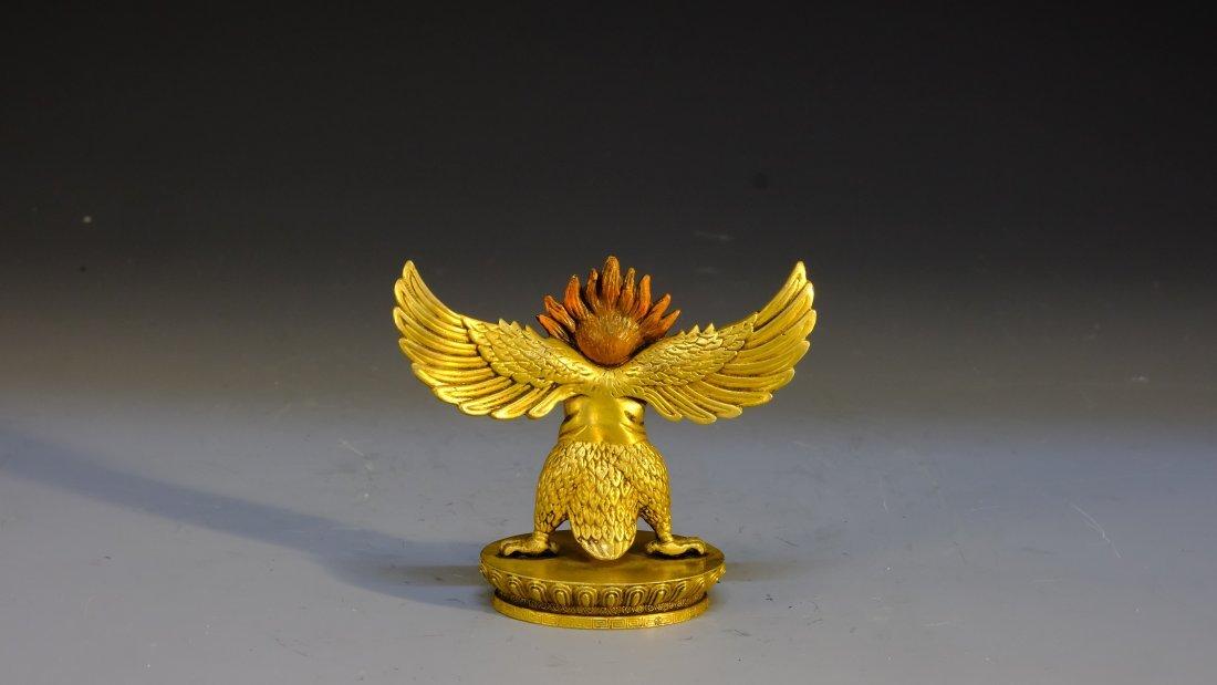 NEPAL GILT BRONZE BIRD - 4