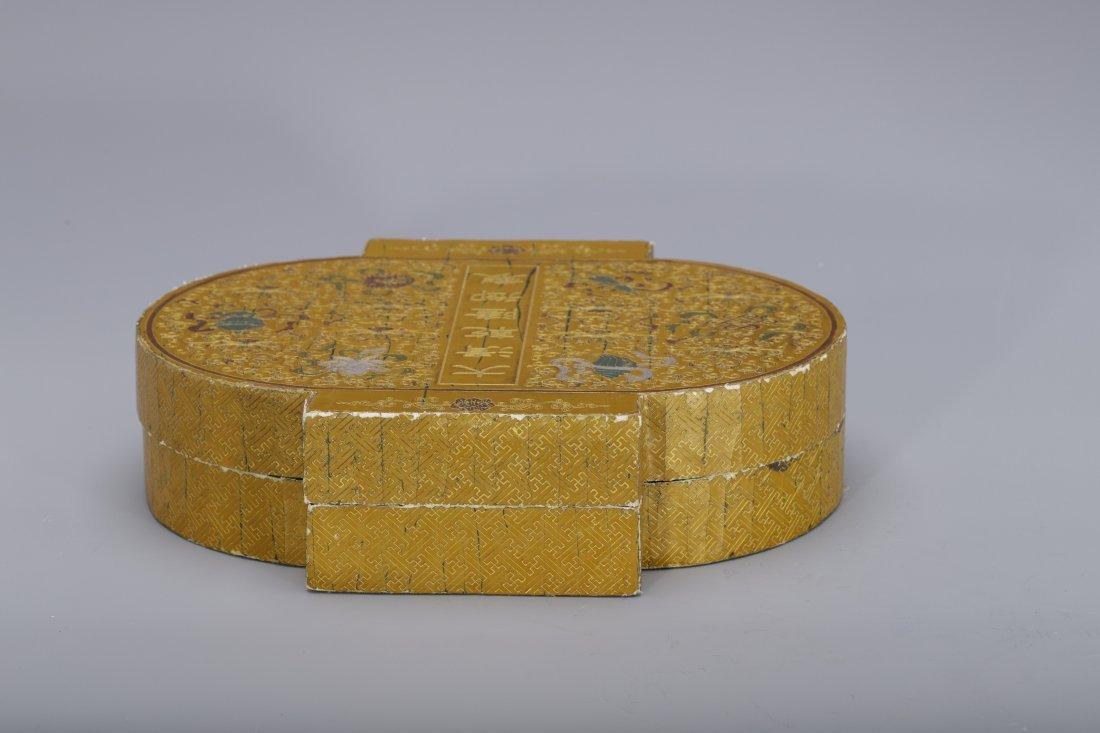 QING QIANLONG PERIOD BAMBOO LANTERN SHAPED BOX - 3